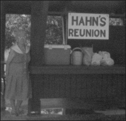 Dovey Hahn at a Hahn Reunion